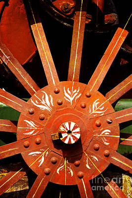 Photograph - Big Red Wheel - 128 by Paul W Faust -  Impressions of Light