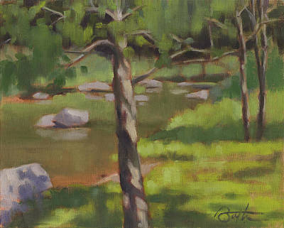 Plain Air Painting - Big Reed Creek 3 by Todd Baxter