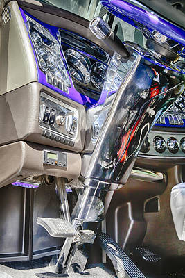 Photograph - Big Rig Interior by Theresa Tahara