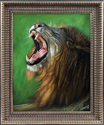 Painting - Big Roar by Sethu Madhavan