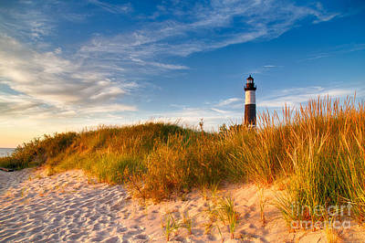 Michigan State Photograph - Big Sable Light Around Sunset by Twenty Two North Photography