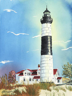 Painting - Big Sable Lighthouse by LeAnne Sowa