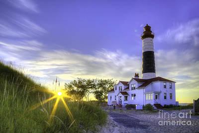 Big Sable Lighthouse Sunset Art Print