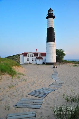 Photograph - Big Sable Point Great Lakes Lighthouse by Terri Gostola
