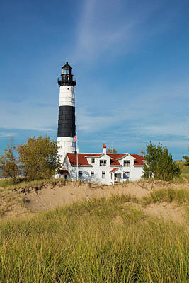 Big Sable Point Lighthouse On Lake Art Print