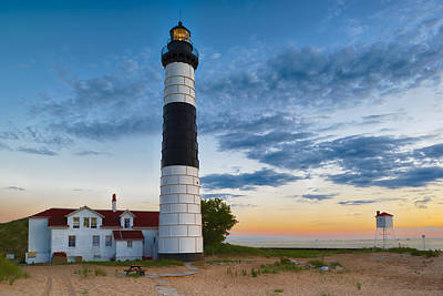 Big Sable Point Lighthouse Sunset Art Print