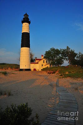 Evening Photograph - Big Sable Point by Terri Gostola