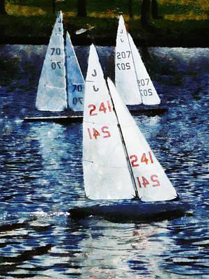 Thomas Kinkade - Big Sailors and Little Boats by Steve Taylor