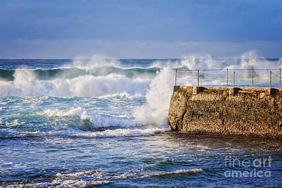 Bondi Beach Photograph - Big  Sea At Bondi Beach Australia by Colin and Linda McKie
