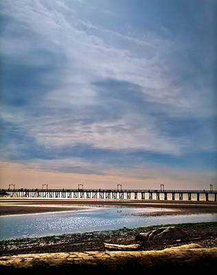 Photograph - Big Skies Over The Pier by Eva Kondzialkiewicz