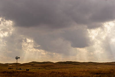 Photograph - Big Sky And Windmill by Scott Bean
