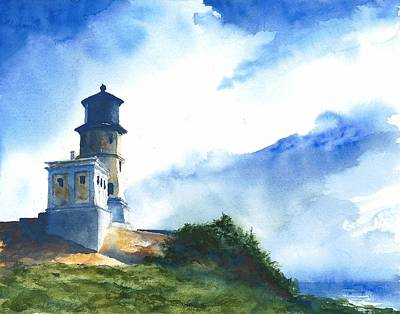 Painting - Big Sky At Split Rock Lighthouse by William Beaupre