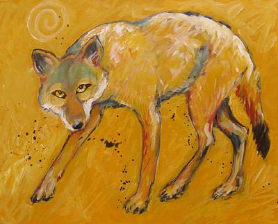 Painting - Big Sky Coyote by Carol Suzanne Niebuhr
