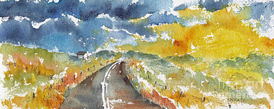 Big Sky - Open Road Art Print by Pat Katz