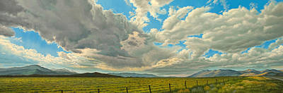 Montana Painting - Big Sky by Paul Krapf