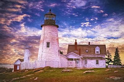 Digital Art - Big Sky Pemaquid Light  Maine by Dave Higgins