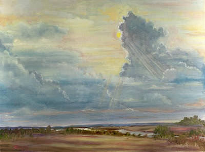 Storm Clouds Painting - Big Sky by Sheila Kinsey