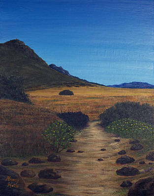 Painting - Big Sky Trail by Nancy Hotz