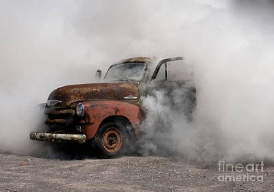 Photograph - Big Smoking Truck by Wilma  Birdwell