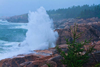 Photograph - Big Splash - Cape Breton by Ben Graham