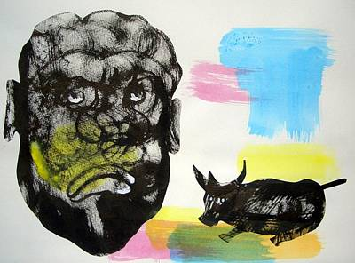 Big Stone Face Original by Aquira Kusume