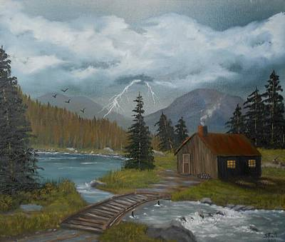 Big Storms A Comin' Art Print by Sheri Keith