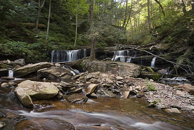 Photograph - Big Summertime View Of Delaware Falls by Gene Walls