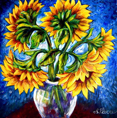 Painting - Big Sunflowers by Sebastian Pierre