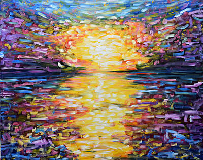 Painting - Big Sunset by Pete Caswell