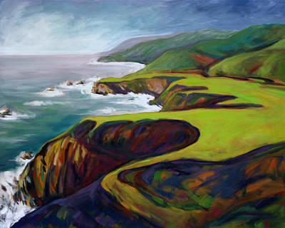 Painting - Big Sur 2 by Konnie Kim