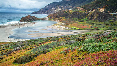Photograph - Big Sur Autumn Landscape by Pierre Leclerc Photography