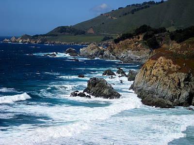 Photograph - Big Sur California Coastline 2 by Theresa Ramos-DuVon