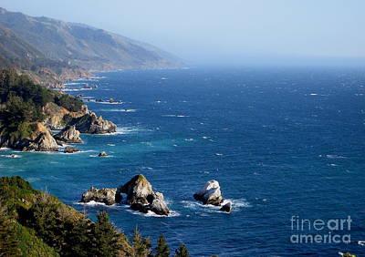 Photograph - Big Sur California Coastline by Theresa Ramos-DuVon