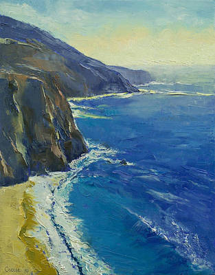 Sur Painting - Big Sur California by Michael Creese
