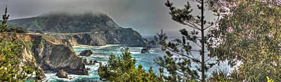 Photograph - Big Sur Coast And Bixby Bridge Pano by SC Heffner