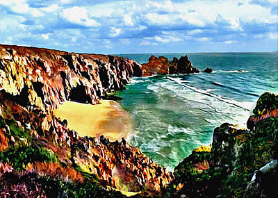 Painting - Big Sur Coast California Original Painting by Bob and Nadine Johnston