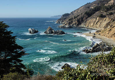 Big Sur Coast From Julia Pfeiffer Burns Art Print by Suzanne Luft