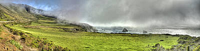 Photograph - Big Sur Coast Pano by SC Heffner