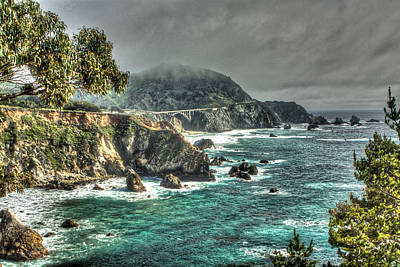 Photograph - Big Sur Coast by SC Heffner