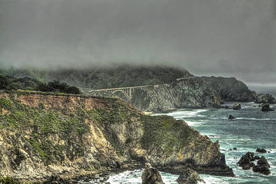Photograph - Big Sur Coast View Of Bixby Bridge by SC Heffner