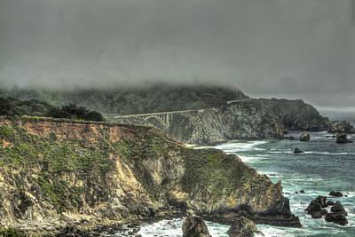 Photograph - Big Sur Coast View Of Bixby Bridge by SC Heffner