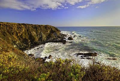 Rocky Digital Art - Big Sur Coastline by Lynn Andrews
