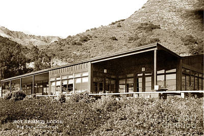 Photograph - Big Sur Hot Springs Now The Esalen Institute California Circa 1961 by California Views Archives Mr Pat Hathaway Archives