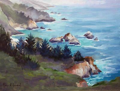 Big Sur In The Mist Original by Karin  Leonard