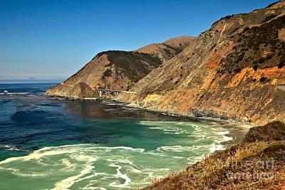 Photograph - Big Sur Ocean Swirls by Adam Jewell