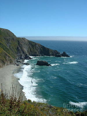 Big Sur Photograph - Big Sur Rocks And Sea  by Greg Cross
