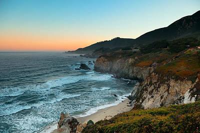 Photograph - Big Sur Sunrise by Songquan Deng