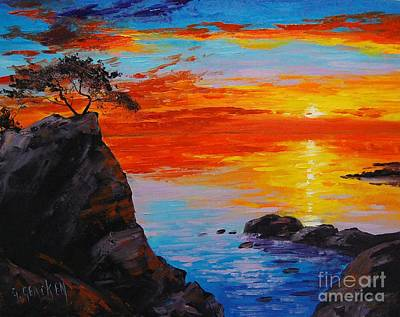 Ocean Sunset Painting - Big Sur Sunset by Graham Gercken