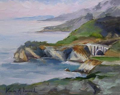 California Poppies Painting - Big Sur Sunset by Karin  Leonard