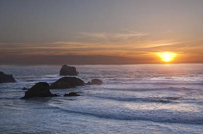 Photograph - Big Sur Sunset by Lee Kirchhevel